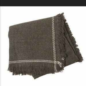 Olive & Pique LOLA Scarf in Charcoal NEW $84